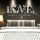 Love Mirror Acrylic Diy Removable Wall Stickers Decal Living Room Home Art Decor