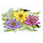 Lotus Trio Water Lily Perfection sacred symbol T-Shirt