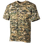 ARMY MENS T-SHIRT MILITARY TOP MARINES TEE MARPAT DIGITAL WOODLAND CAMO S-3XL
