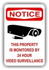 VIDEO SURVEILLANCE - 12x18 Aluminum Sign - 4 Styles to Choose From