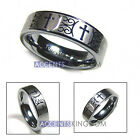 6MM TUNGSTEN CARBIDE CROSS WEDDING BAND ENGAGEMENT RING