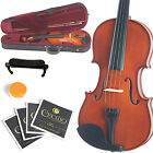 MENDINI SIZE 4 4 VIOLIN SOLIDWOOD NATURAL VARNISH +TUNER+SHOULDERREST 4 4MV200