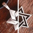6 Pointed Star Jewish Jews Hexagram Seal of Solomon Star of David Pewter Pendant
