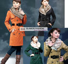 New Womens Winter Long Coat Outwear #GF005  Free p&p !