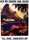 Vintage Travel POSTER.Red Mermaid.Home art Decor.House Inter