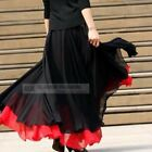 Double layer Full Circle Chiffon Long Skirt  XS~3XL