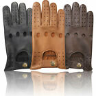 TOP QUALITY PRIME MEN CHAUFFEUR SOFT REAL LEATHER DRIVING GLOVES D-502