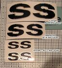 SS Decals Camaro Set X2 Pair Chrome Black 3 Sizes NEW!