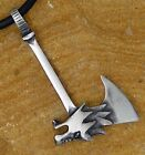 WOLF Medieval Norse Viking Barbarian Fantasy Magic Weapon Axe AX pewter pendant