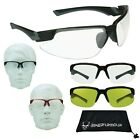 Unbreakable Z87 Safety Glasses Clear Motorcyle Cycling Running Sports Hunting