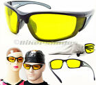 Z87.1 Yellow Safety Glasses Night Vision Night Riding Driving Motorcycle Cycling