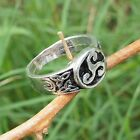 Trinity Triskele Triquetra Celtic knot Norse Viking Druid Pewter Ring Silver