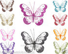 MEDIUM Glitter Butterflies - Many Colours - Decorations