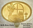 Lithophane Night Light - Cat Nap - Silhouette Pane Oval