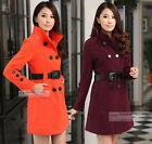 NEW Womens Wool Double-breasted Trench Coat/Jacket #GF007