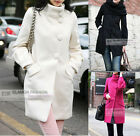 NEW Womens Wool Trench Coat/Jacket Winter Coat #GF008