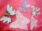 BUTTERFLY MOTIF multicoloured EMBROIDERY SEW ON PATCHES