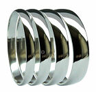 950 Platinum D Shaped Wedding Rings Medium UK HM 2mm 3mm 4mm 5mm 6mm Bands H-Z