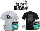 New Official The GodFather T-Shirt And Key Ring Gift Set, Mens Retro T-Shirt