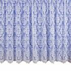 DESIGN 3000 TRADITIONAL VICTORIAN LACE EFFECT WHITE NET CURTAIN DAMASK PRINT
