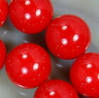 14mm Red Shell Pearl Round Beads 14pcs
