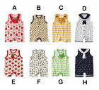 Cute Colorful Baby Boy Girl Bodysuit Onesie Toddler Infant One Piece Suit