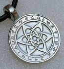 Kakabel Angel Astrologer's Star Magic Hexagram Talisman Silver Pewter pendant