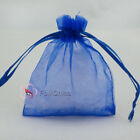 Blue Organza Wedding Favour Gift Bags Jewellery Pouches 5x7cm,7x9cm,9x12cm...