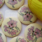 Petunia 30mm Wood Buttons Sewing Scarpbooking Craft A008