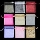 40 X JEWELLERY ORGANZA VERY COLOURS POUCHES BAGS SMALL GIFT SWEETS WEDDING PARTY