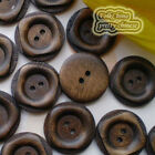 Pane 2 Holes 24mm Wood Buttons Sewing Scrapbooking Craft C022
