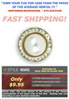 WHITE PEARL Stone CRYSTAL Mandarin Band Shirt Tuxedo Button Cover #600