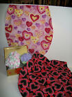 Collection of Handmade Valentine's Day Seat Covers Bears Hearts Children