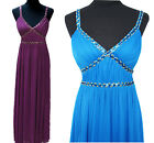 New Sequins Beads Party Prom Bridesmaid Formal Dress Evening Gown