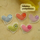 Mixed Gingham Heart Felt Appliques Padded Craft Sewing Scrapbooking Trim APQA