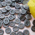 50-3000pcs Black 11mm Shirt Plastic Buttons Craft 4SB01