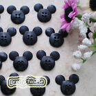 Black Mickey Shape 20mm Plastic Buttons Sewing Scrapbooking Collectable Craft