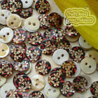 Wide Flower 11mm Mother Of Shell Buttons Sewing Scrapbooking Beads SCP650