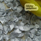 Silver Satin 20mm Bows Satin Ribbons 10mm Appliques Scrapbooking Cardmaking