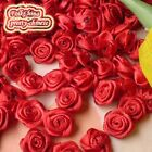 Red Satin Ribbon Roses 15mm Appliques Scrapbooking Sewing Craft JMSR04