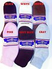 FREE SHIP 6 Pairs Womens Physicians Choice Diabetic Ankle Socks  9-11 USA Made!
