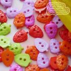 Flat Strawberry 10mm Plastic Buttons Sewing Scrapbooking Cardmaking SBR
