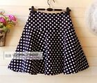 NEW Polka Dots Skirt Mini Skirt XS~3XL #GF0611