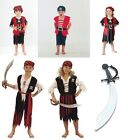 BOYS GIRLS KIDS PIRATE FANCY DRESS OUTFIT CARIBEAN BNWT AGS 4 5 6 7 8 9 10 11 12