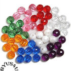 Acrylic Spacer Beads Round Faceted 6mm Choice Of Colors 100pc