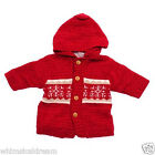 Clayeux girls divine hooded knit jumper jacket Sz 3 & 4 lined with warm fleece