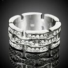 Vintage Style Clear Crystals White Gold GP Fashion Ring