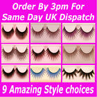 3 Pairs False Eyelashes Lashes Full Individual Long Makeup★Natural Soft Thick