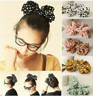Big size Rabbit Ear Bow Hair Tie Bracelet Japan Korean Style Ponytail Holder