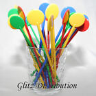 "7"" ASSORTED COLOUR COCKTAIL STIRRERS SWIZZLE STICKS PACK 10,25,50,100,250, 500"